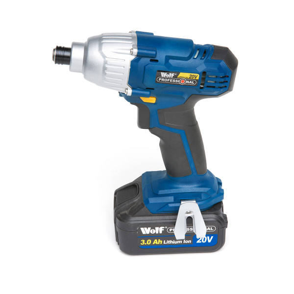 Wolf Professional 20v Combi Drill & Impact Driver Kit