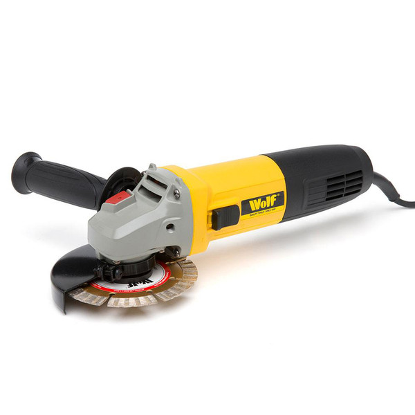 Wolf 850W Angle Grinder 115mm with Diamond Disc