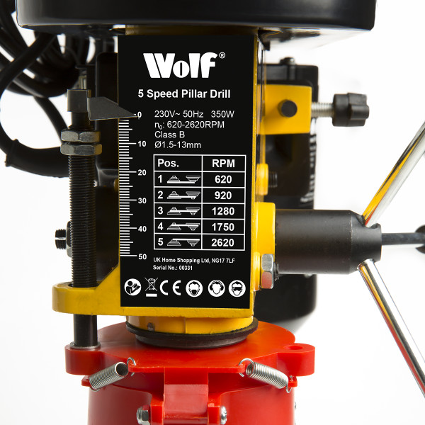 Wolf Engineer's 5 Speed Pillar Drill
