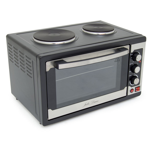 Julie Diane 45L Worktop Oven with 2 Hot Plates & Rotisserie