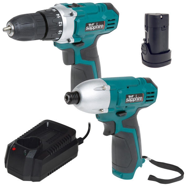 Wolf Sapphire 12v Drill Driver & Impact Driver