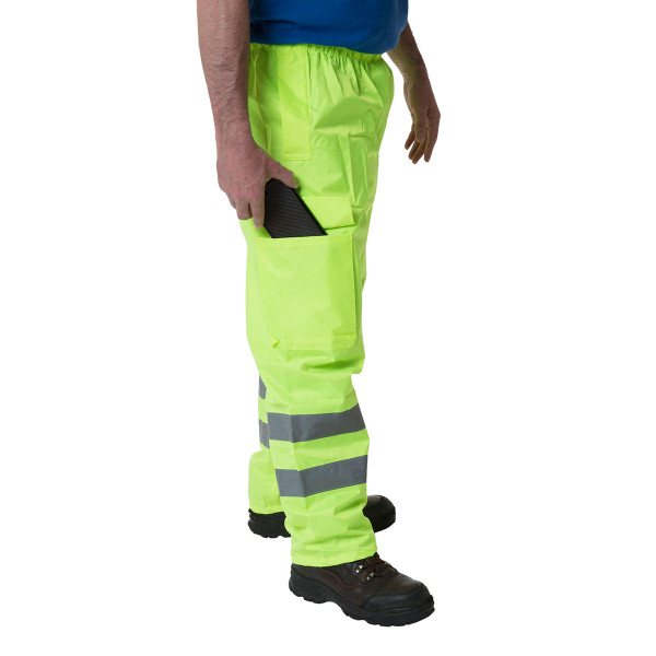 Wolf Hi-Vis Yellow Trousers Medium (34-36 Inches)