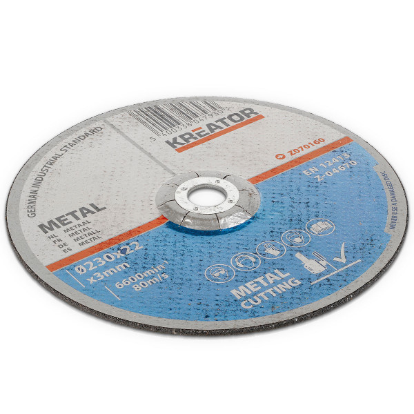 Kreator 6PK Metal Cutting Discs 230mm 22mm Bore KRT070160