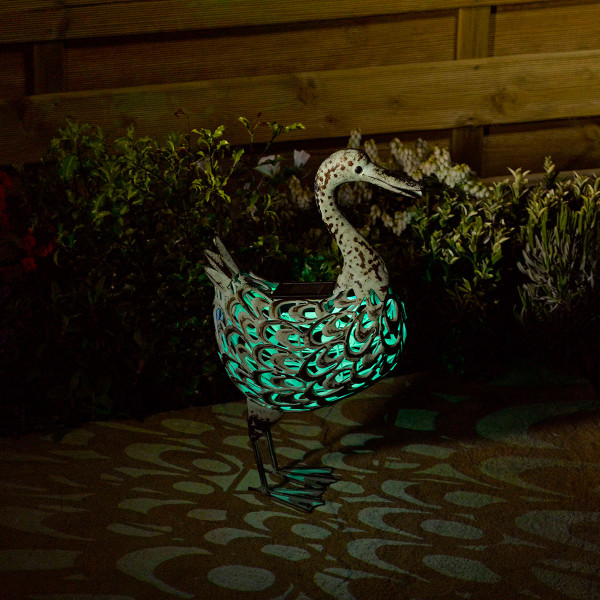 Solar Powered Silhouette Duck Light