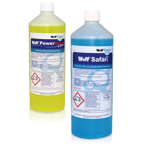 Wolf 1L Vehicle Cleaner & 1L Power Extra Patio Cleaner
