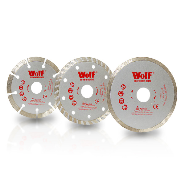 Wolf Diamond Cutting Disc 115mm 3PKs Set