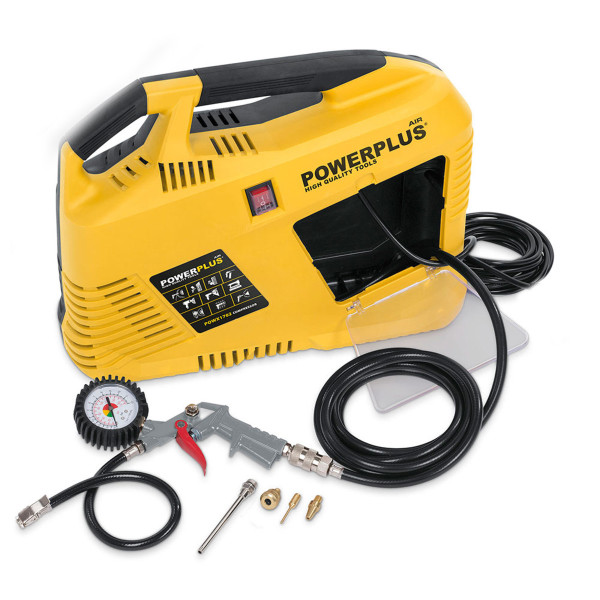 Powerplus 1.5HP 6.3CFM Portable Compressor & 5pc Kit POWX1702