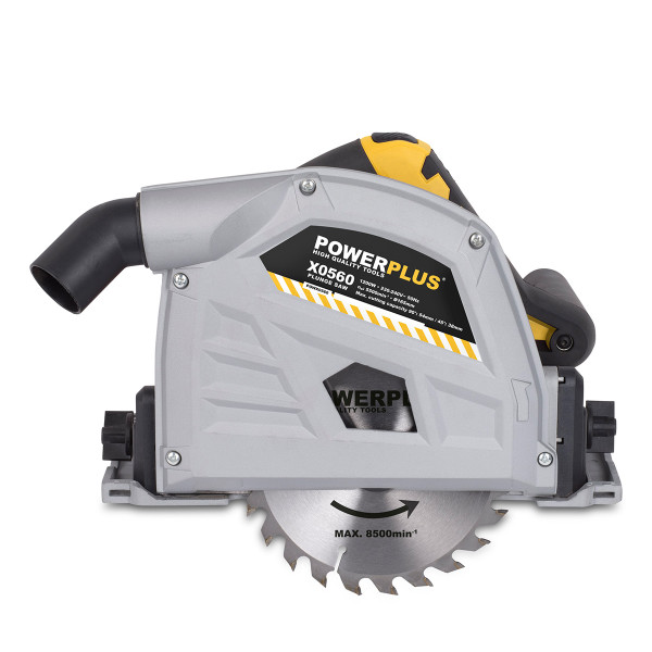 Powerplus 165mm 1200W Plunge Saw with Bag POWX0560