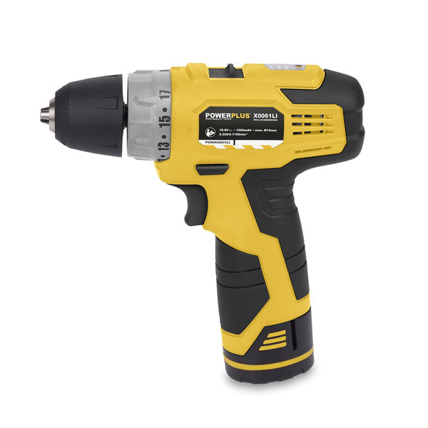Powerplus 10.8v Li-ion Drill/Driver w/ 3 Batteries POWX0061LI