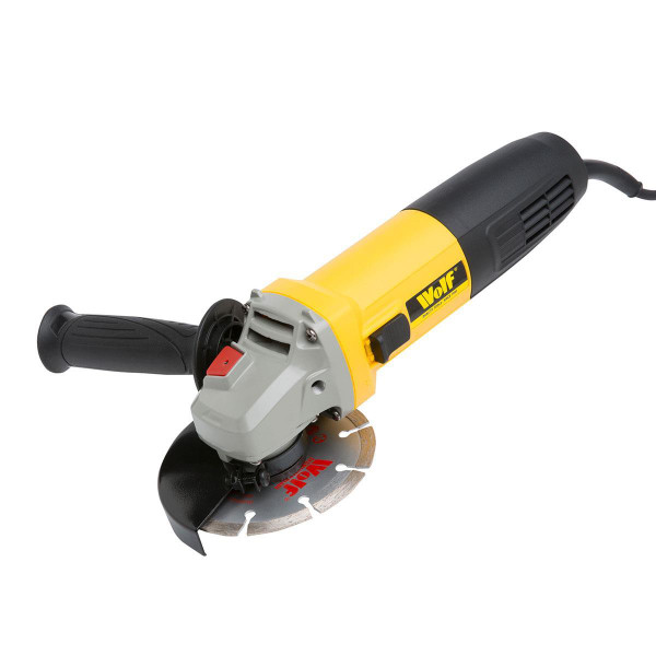 Wolf 850w Angle Grinder & 3pc Disc Set