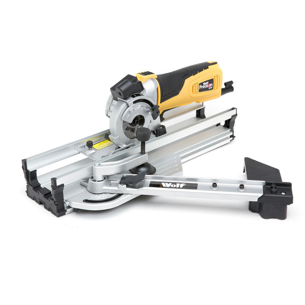 Wolf 600w 89mm Precision Plunge Saw and Mitre Base & Workbench