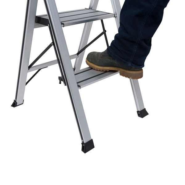Wolf 2 Step Aluminium Slimline Step Ladder