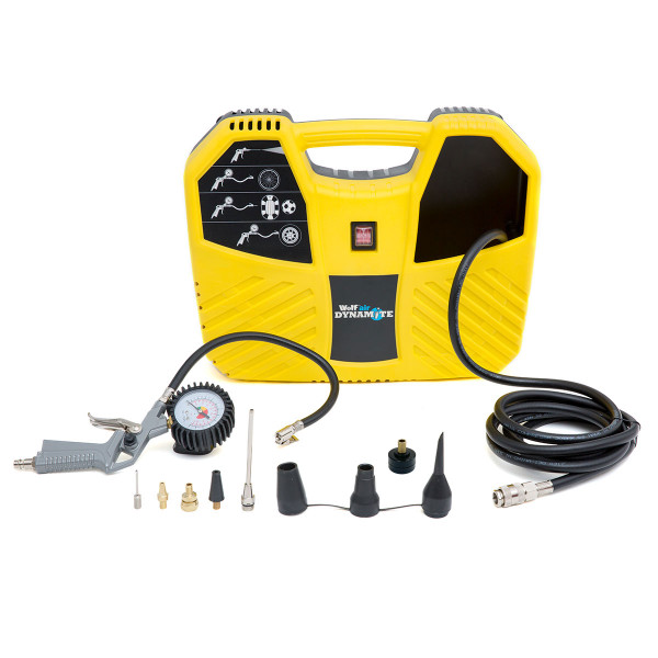 Wolf Air Dynamite Portable Air Compressor With 10pc Accessories