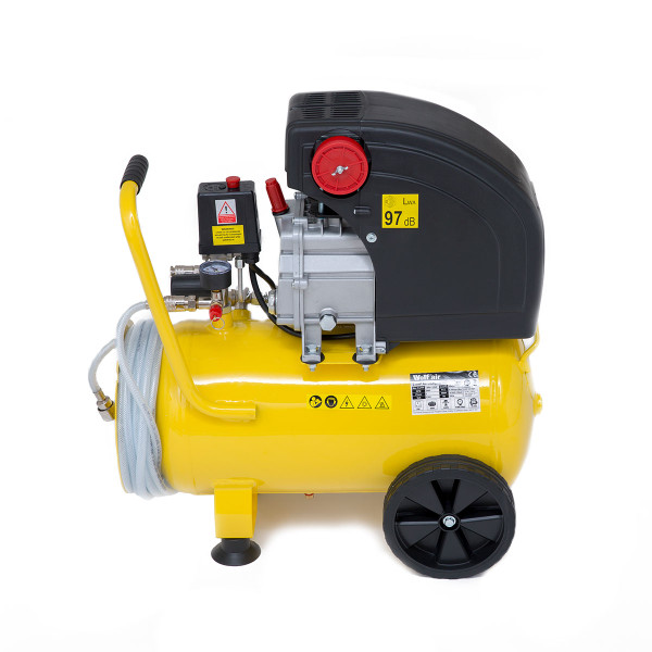 Wolf Air 24L Super Sioux Air Compressor with Integrated Hose Reel