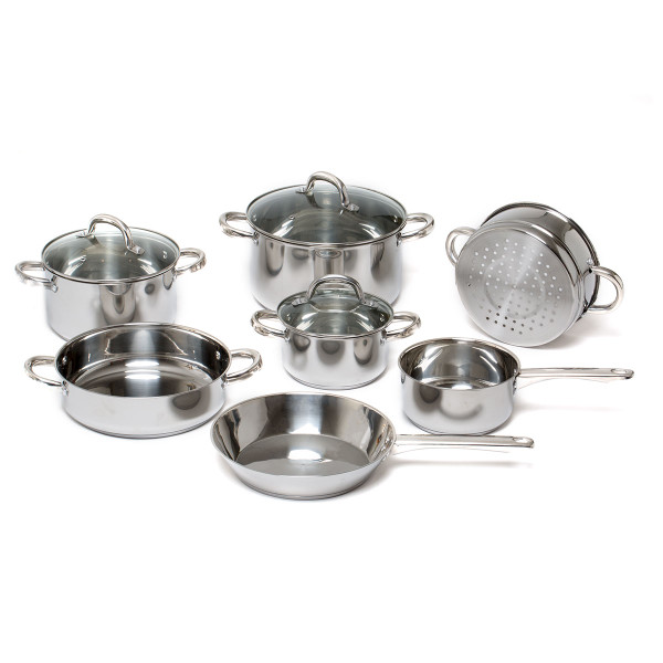 10pc Stainless Steel Saucepans with Lids