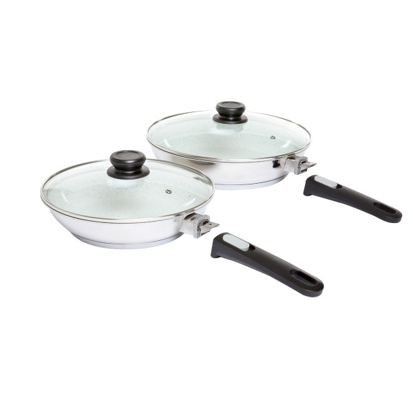 Ceramic Coated Stainless Steel Frying Pans