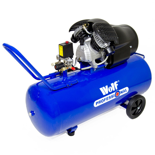 Wolf Pro Cheyenne 100L Air Compressor W/ 13pc Air Tool Kit
