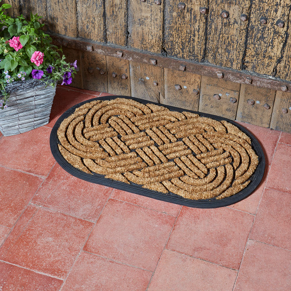 Heavy Duty Celtic Knot Oval Door Mat 75 x 45cm