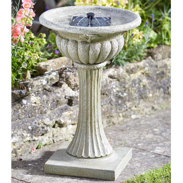 Solar Powered Rochaester Birdbath Fountain