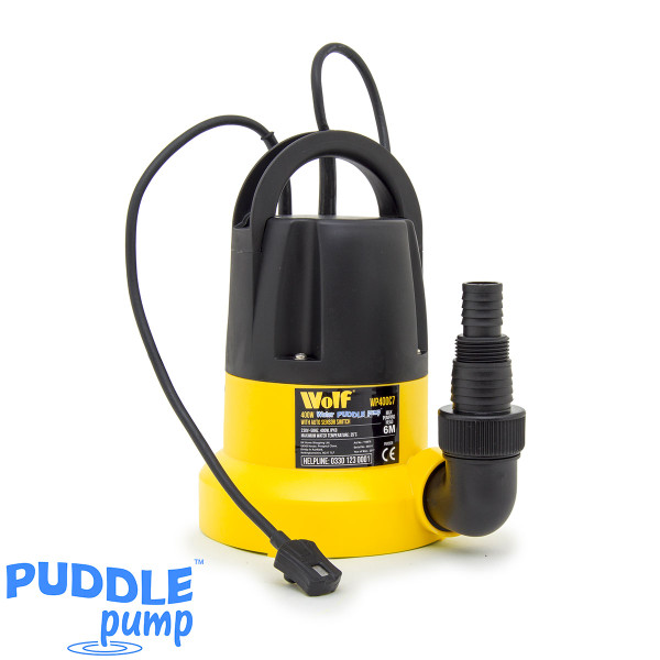 Wolf 400w Water Puddle Pump with Auto Sensor Switch
