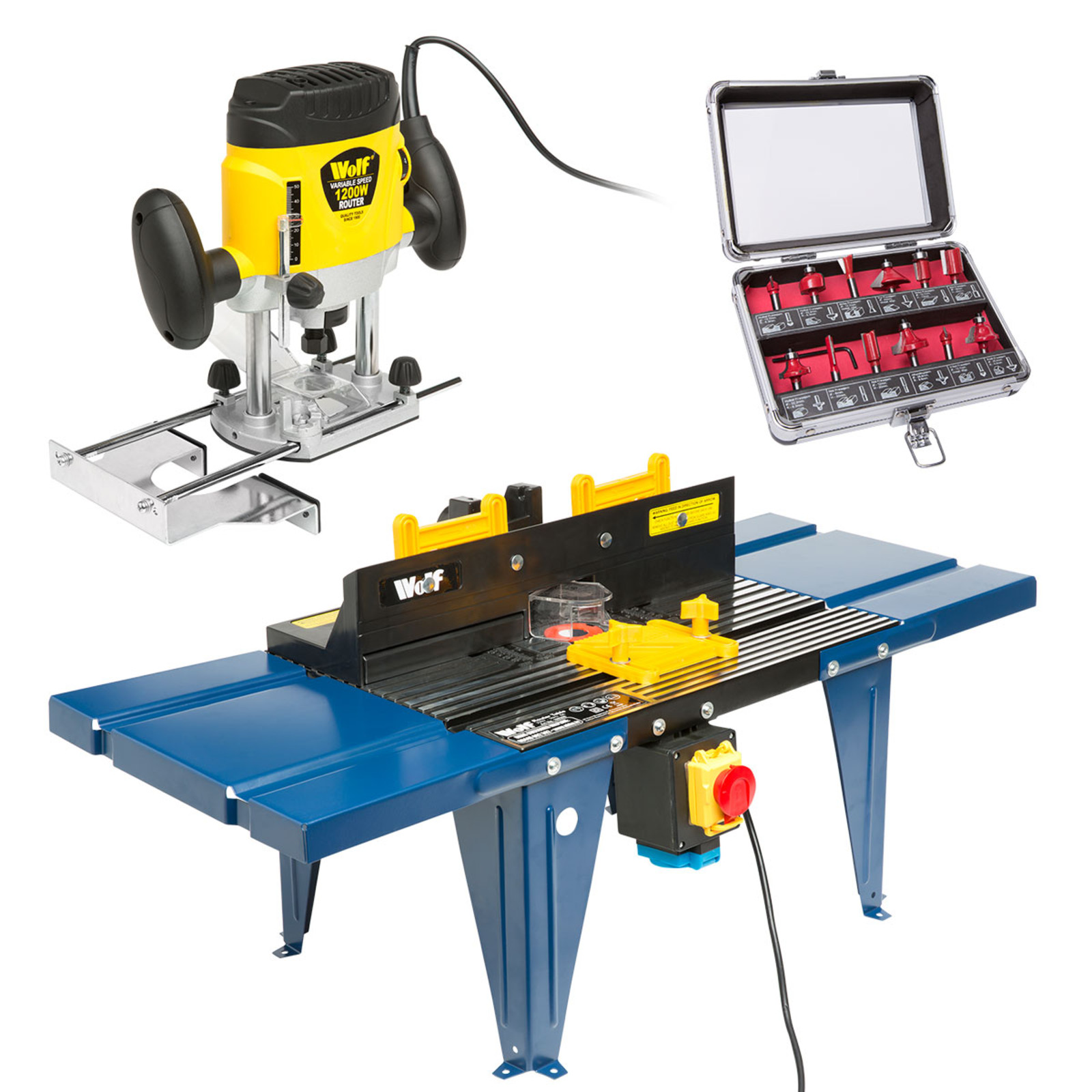 Wolf 1200w plunge router router table wolf 12pc bit kit ukhs click on the image to enlarge keyboard keysfo Image collections