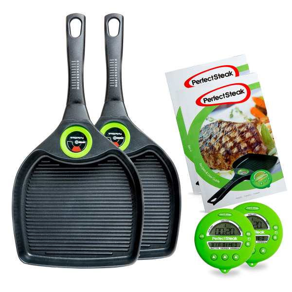 2 x Steak Advanced Grill Pan System Pack