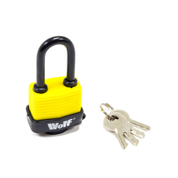 Wolf Heavy Duty 40mm Padlock with Long Shackle