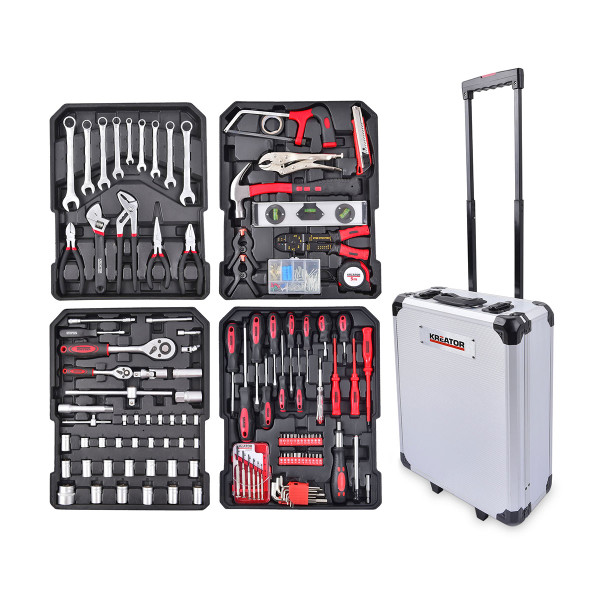 Kreator 253pc Trolley Tool Box Set KRT951011