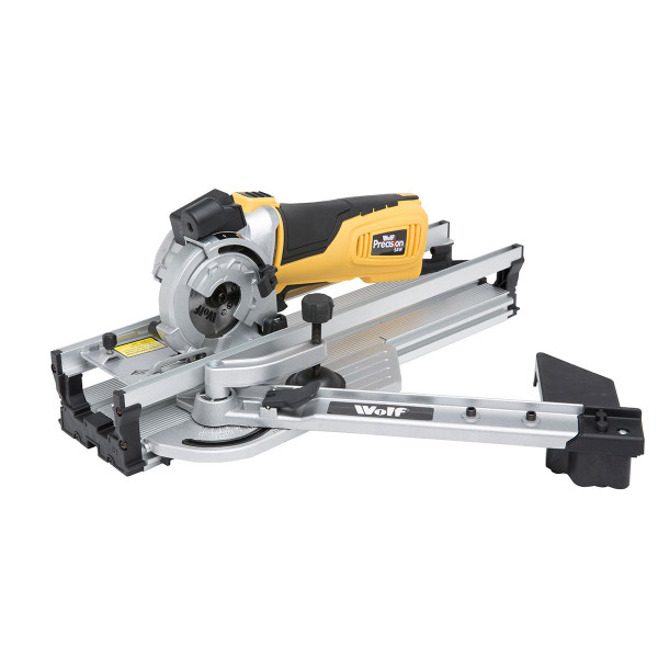 Wolf 89mm Precision Plunge Saw and Mitre Base + Pk6 Extra Blades