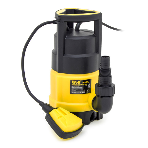 "Wolf 400w Clean & Dirty Water Pump & 1"" Delivery Hose"