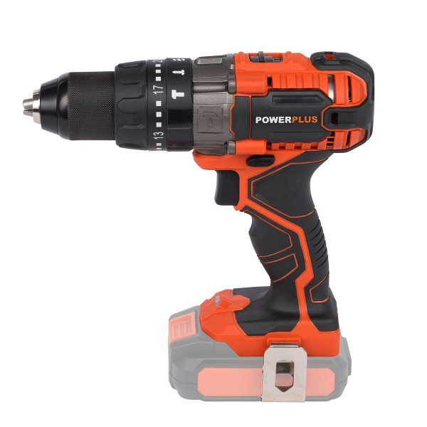 Powerplus 20v Li-Ion Combi Drill & Impact Driver W/ Battery & Charger