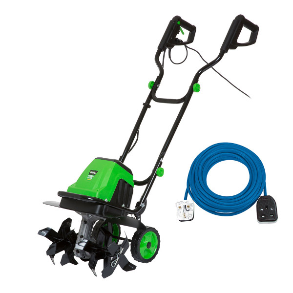 BMC 1400w 6 x 4 Garden Tiller / Cultivator with 14m Ext. Cable