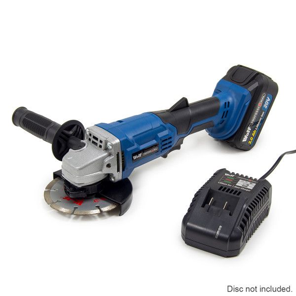 Wolf Professional 20v 115mm Angle Grinder with Battery