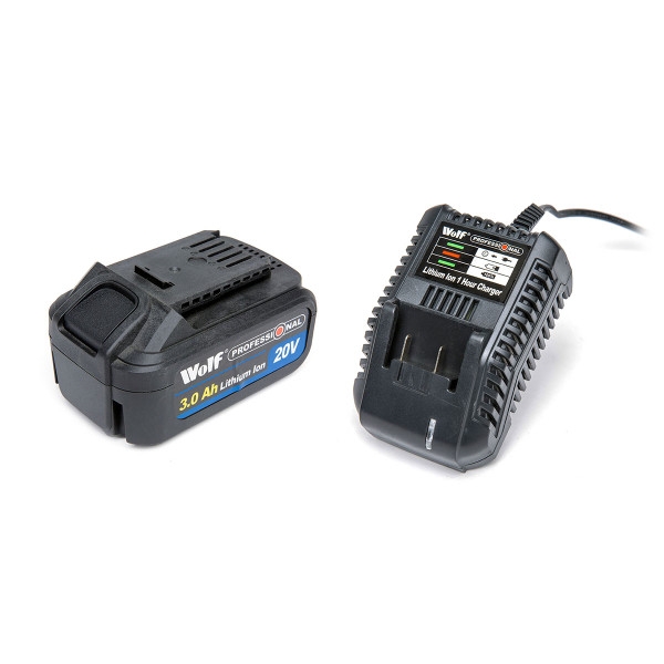 Wolf Professional 20v Li-Ion 3Amp/h Battery & Charger