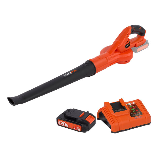 Powerplus Dual Power 20v Leaf Blower with Battery & Charger