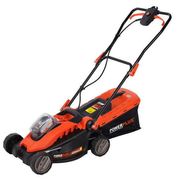 Powerplus 40v 320mm Lawn Mower & Grass Trimmer with Battery and Charger