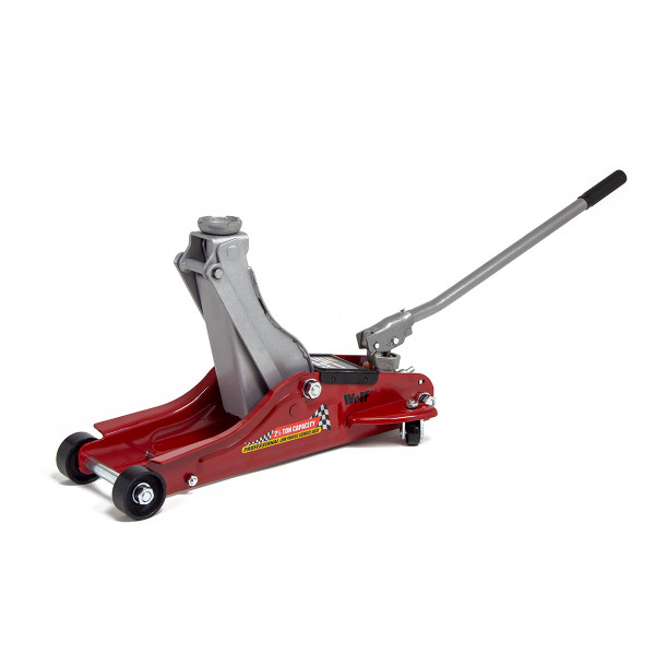 Wolf 2.5T Low Profile Trolley Jack, 3T Axle Stands and Wheel Chocks