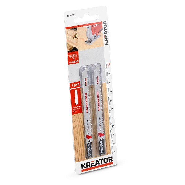 Kreator 2PK 100mm 10TPI U-Shaped Hardwood Jigsaw Blades KRT045011