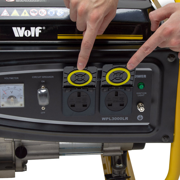 Wolf Power 3.12KVA Heavy Duty Petrol Powered Generator