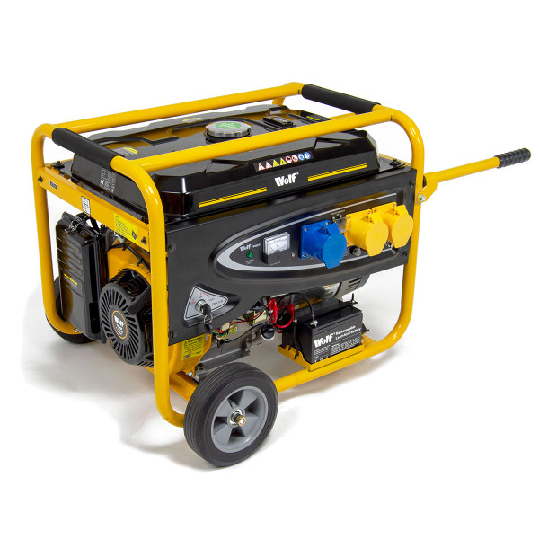 Wolf Petrol Generator 8.75KVA Heavy Duty, Electric Start & Dual Voltage