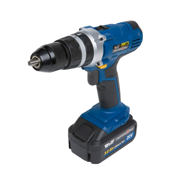 Wolf Professional 20v Li-Ion Combi Drill & Extra 4aH Battery