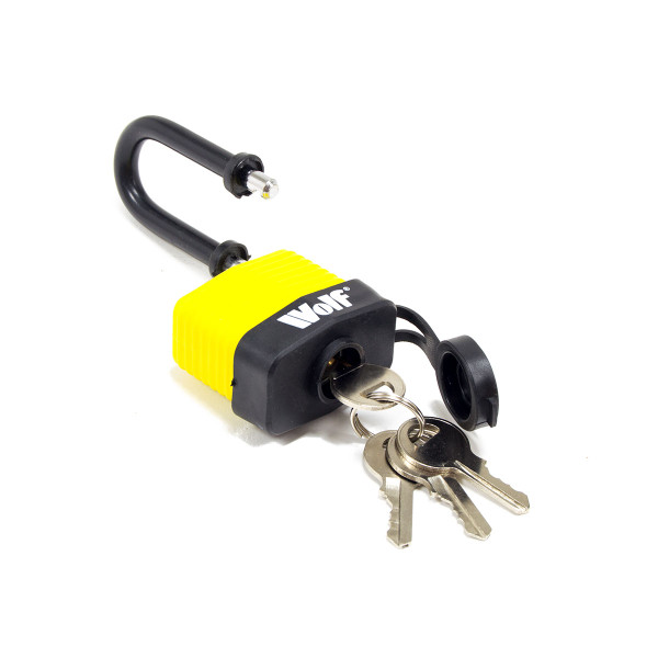 Wolf Heavy Duty 40mm Padlock with Long Shackle - Pack of 3
