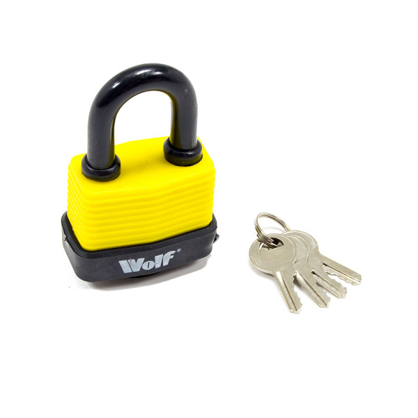 Wolf Heavy Duty 50mm Padlock - Pack of 3