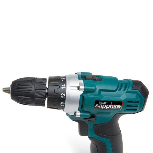 Wolf Sapphire 12v Drill Driver with Combo Tool, LED Torch, 2 Batteries & Charger