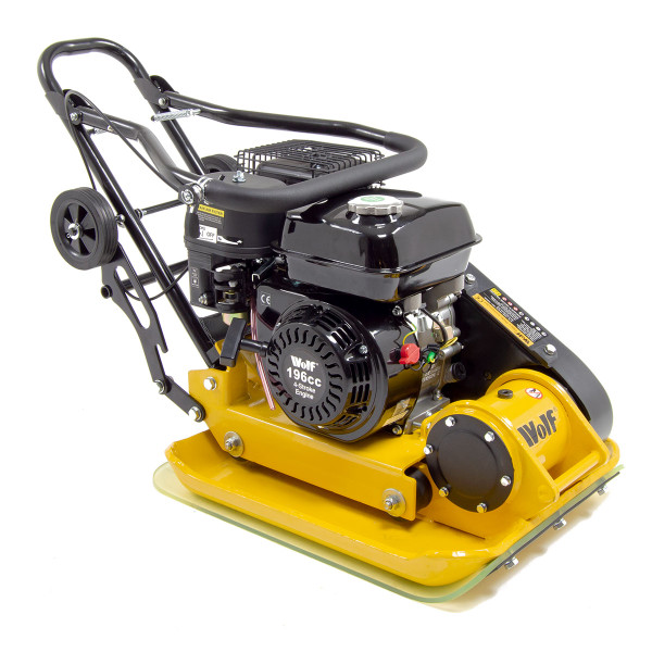 Wolf 13000N Petrol Powered Compactor with Wheels & Paving Pad