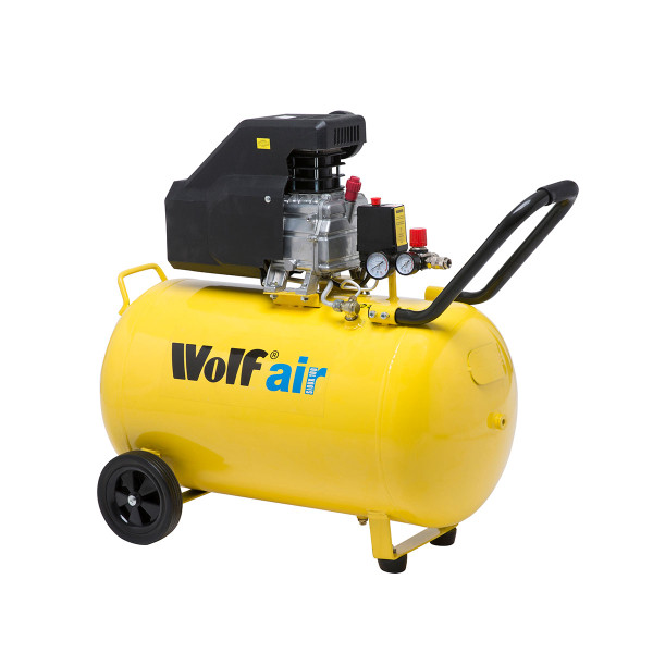 Wolf Sioux 100L Air Compressor 9.6cfm with 16pc Air Tool Kit