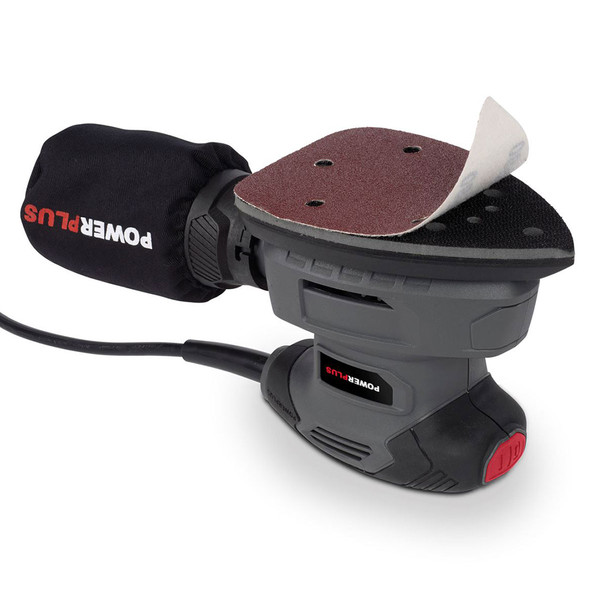 Powerplus 140w Palm Sander Set