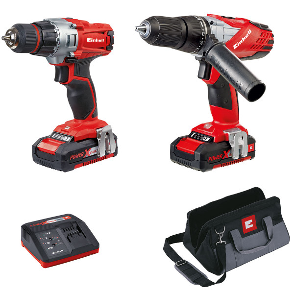 Einhell Power X-Change 18V 1.5 Ah Combi and Drill Driver Kit