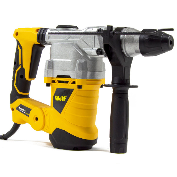 Wolf 4 Function 1500 Watt, 6 Joules SDS Rotary Hammer Drill