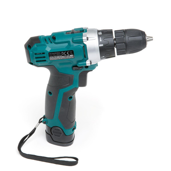 Wolf Sapphire 12v Drill Driver with Impact Driver, LED Torch, 3 Batteries & Charger